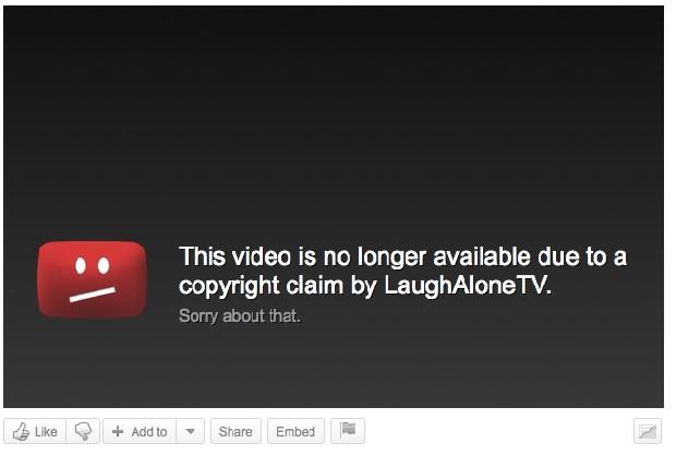 Vídeo indisponível por infringir direitos autorais (Reprodução - Kotaku AU)