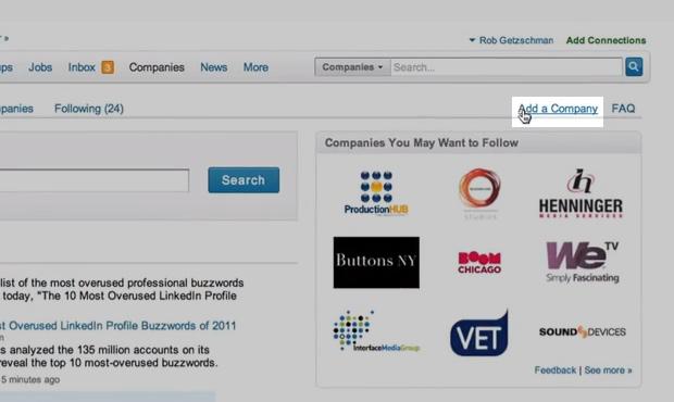 """Clique em """"adicionar empresa"""" no campo superior à direita(Foto: Reprodução/ LinkedIn)"""