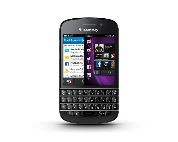 BlackBerry Q10 (Foto: Divulgação)