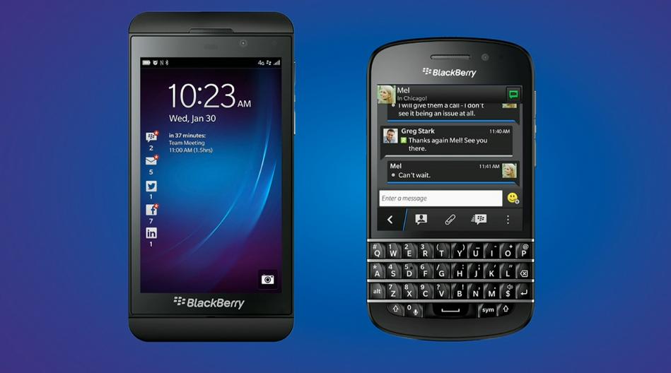 Novos BlackBerry Z10 e Q10, com o novo sistema BB10 (Foto: Divulgação)