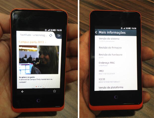 Firefox OS em ação (Foto: Nick Ellis/TechTudo)