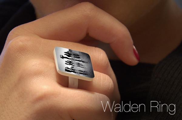 Modelo de anel em plástico é opção mais em conta do serviço JewelGram (Foto: Divulgação)
