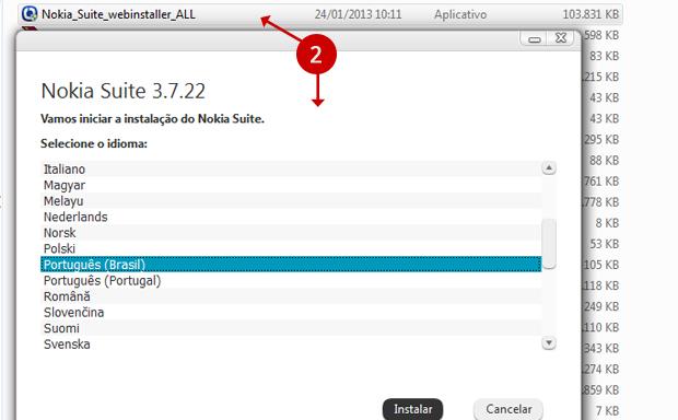 Nokia Suite pode ser instalado no idioma português (Foto: Reprodução/Carolina Kadix)