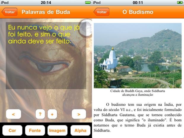 Palavras de Buda oferece mais de 150 pensamentos budistas em seu smartphone (Foto: Divulgação)