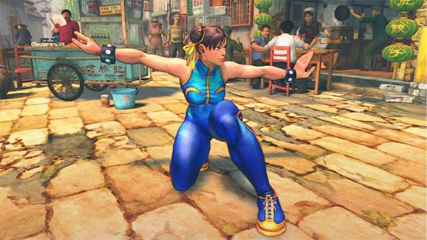 Chun-Li e seu uniforme colado no corpo (Foto: Divulgação)