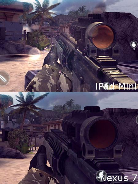 Comparativo  das versões de Modern Combat 4 (Foto:PocketGamer)