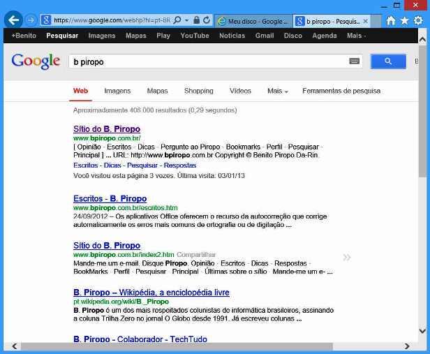 Figura 1: nova interface de pesquisas do Google