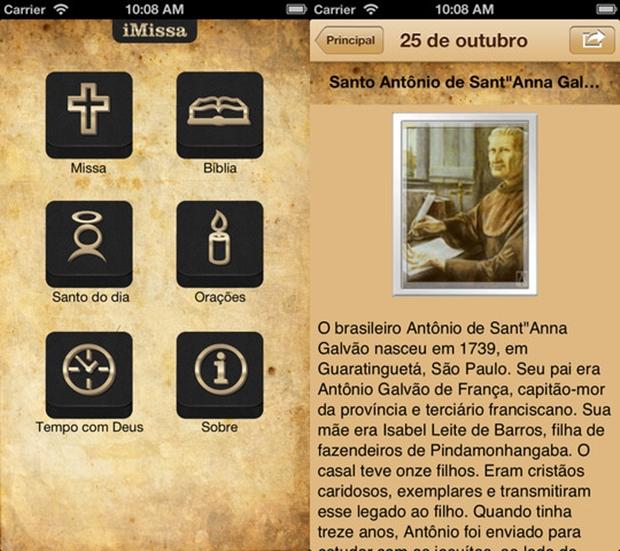 iMissa é um dos aplicativos mais completos com enfoque religioso dedicado aos católicos (Foto: Divulgação)