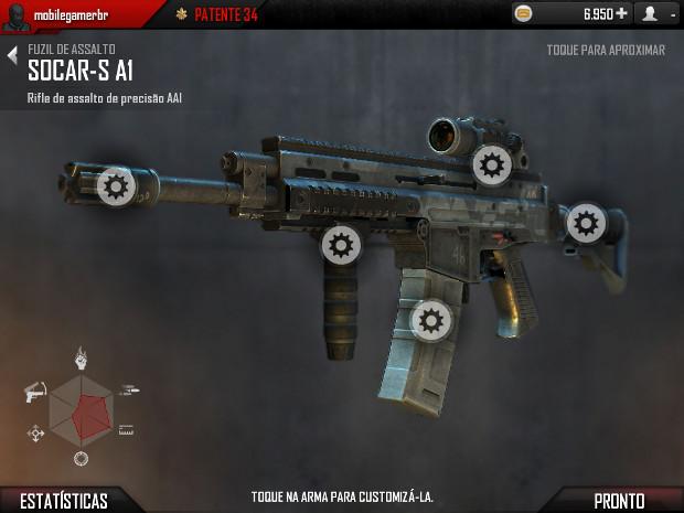 Agora é possível customizar sua arma (Foto: Reprodução)