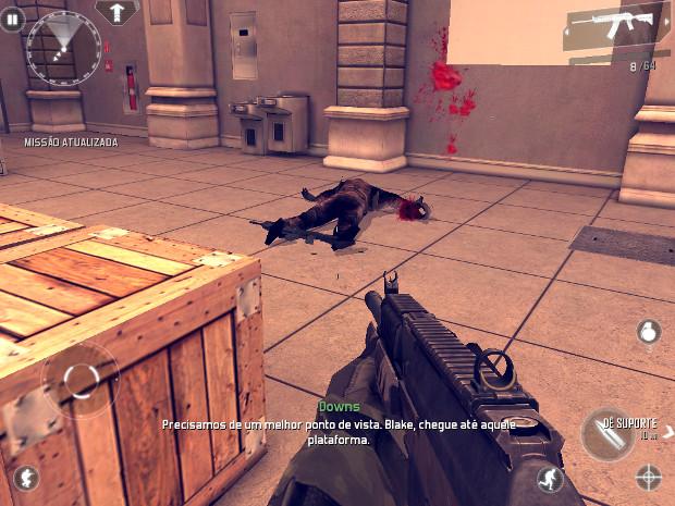 Modern Combat 4 tem sangue e decaptações, mas tudo pode ser desativado pelo menu (Foto: Reprodução)