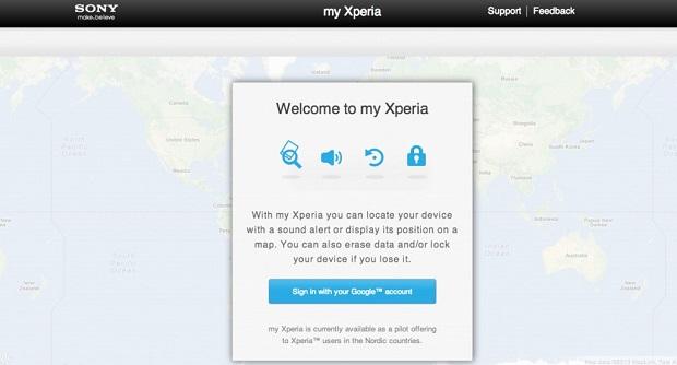 MyXperia é um novo serviço de segurança para smartphones da Sony (Foto: Divulgação)