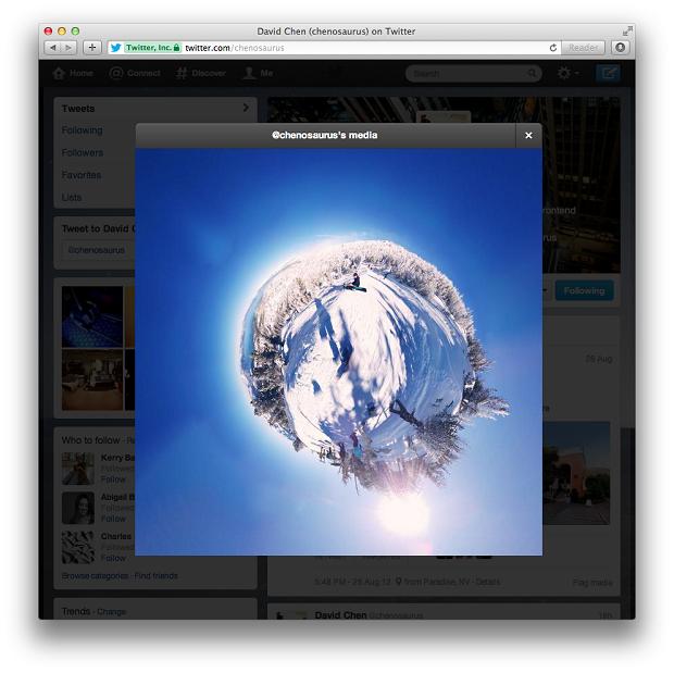 Nova visualização de fotos do Twitter foi anunciada pela empresa (Foto: Divulgação)
