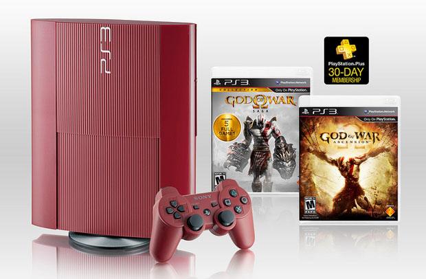 O Legacy Bundle vai reunir os seis jogos da série God of War em um PS3 vermelho (Foto: Divulgação)
