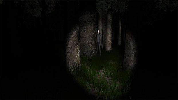 O Slenderman ataca nas sombras (Foto: Reprodução)