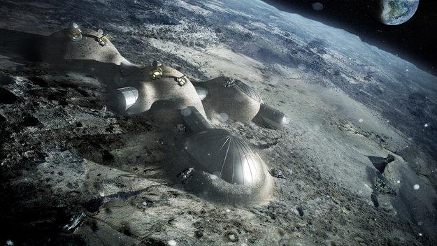Esboço da base lunar (Foto Divulgação/ESA)