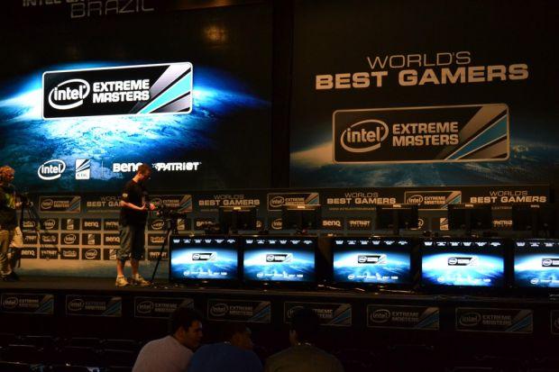 A Intel fez campeonatos de games na Campus Party (TechTudo|Pedro Zambarda)