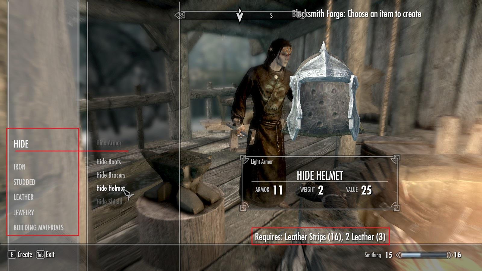 Exemplo de criação de item
