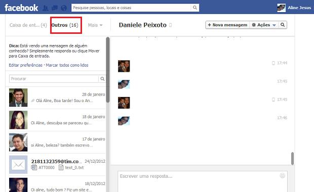 cbbadffbde5 Checando mensagens privadas de pessoas que não estão no Facebook (Foto   Reprodução Facebook