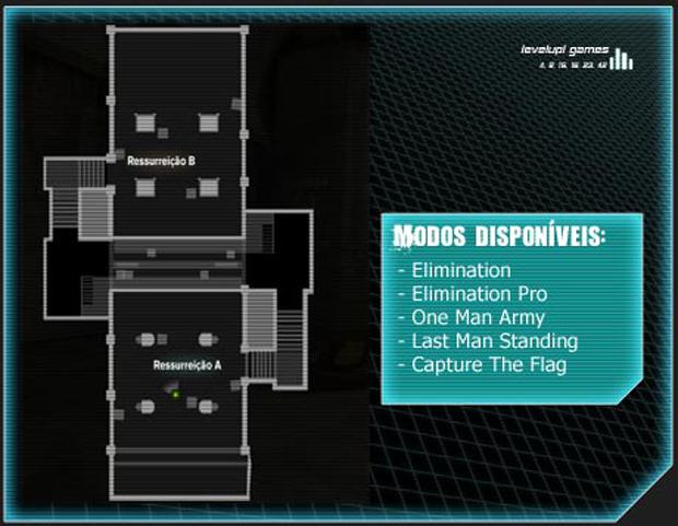 Mapa Death Room (Foto: Reprodução/LevelUp Games)