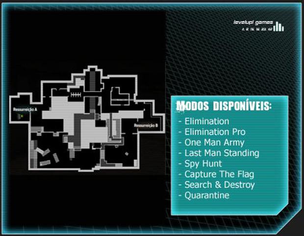 Mapa Warhead (Foto: Reprodução/LevelUp Games)