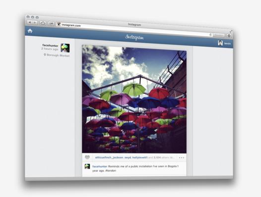 Instagram lança versão web completa (Foto: Divulgação)