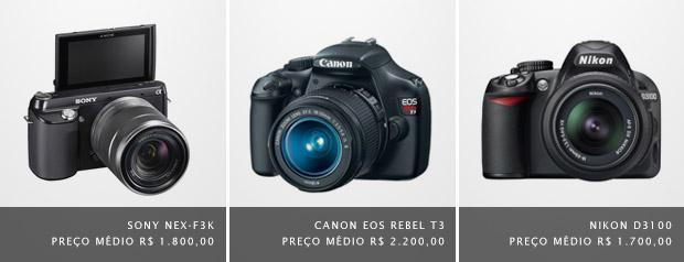 Imagens de câmeras DSRL (Foto: Divulgação)