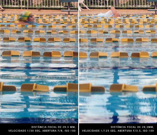Imagem de nadadora em piscina semi olímpica com raias (Foto: Adriano Hamaguchi)