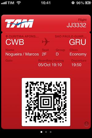 TAM lançou cartões de embarque para o passbook (Foto: Divulgação)