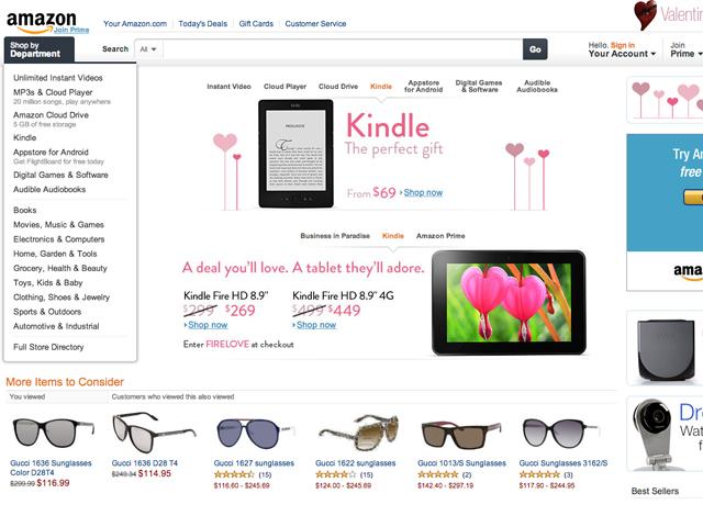 Amazon: loja virtual de eletrônicos, acessórios, roupas e até alimentos. (Foto: Reprodução / Amazon.com)