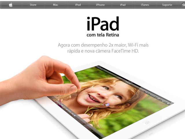 Site da Apple com informações sobre produtos e compras. (Foto: Reprodução / Apple)