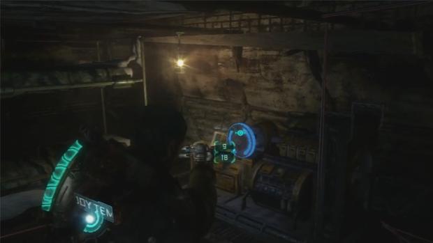Falha nesta sala em Dead Space 3 permite angariar recursos infinitos (Foto: Divulgação)