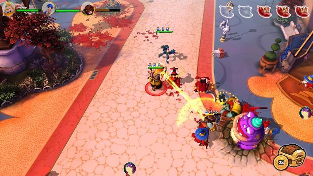 Uma batalha em DungeonLand (Foto: Dad's Gaming Addiction)
