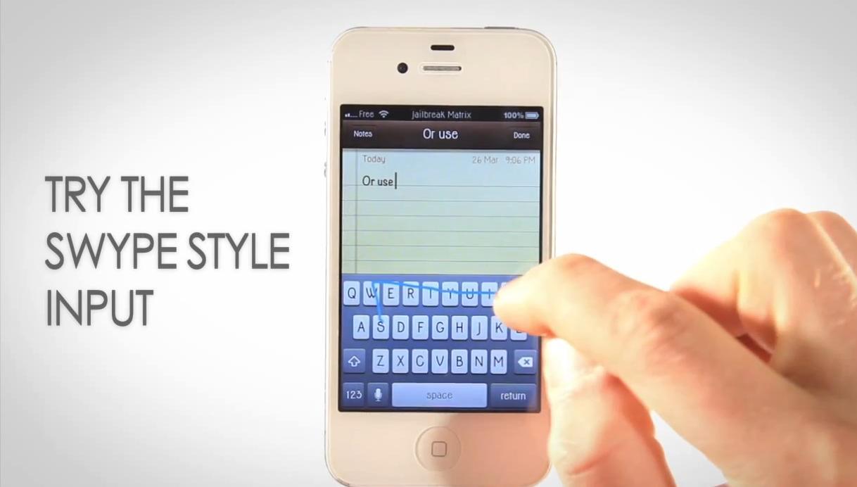 Torne o Swype disponível para o teclado do iPhone (Foto: Reprodução/ Youtube)