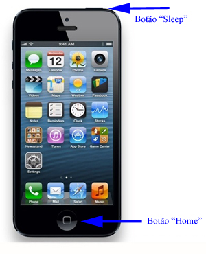 "Botões ""Sleep"" e ""Home"" do iPhone (Foto: TechTudo)"