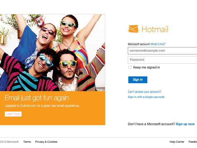 Live.com: O novo site de e-mail do Windows. (Foto: Reprodução / Live.com)
