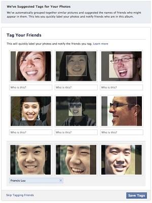 Reconhecimento facial do Facebook sugere perfis com base em dados biométricos dos usuários (Foto: Reprodução / Facebook)