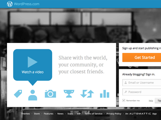 Wordpress:  plataforma de gerenciamento de conteúdo (Foto: Reprodução/ Wordpress)