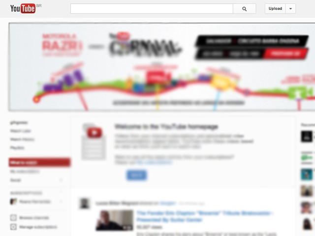 Site de vídeos do Google (Foto: Reprodução / YouTube)