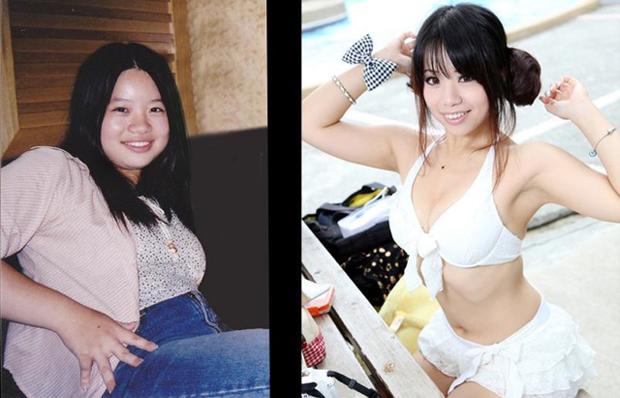 Fotos de Rolan Ajo antes e depois da sua dieta (Reprodução / Facebook)