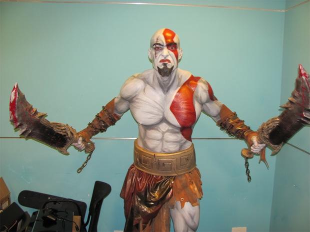 Kratos para quem quer encarnar o deus da guerra (Foto: Reprodução/Monte Olimpo)