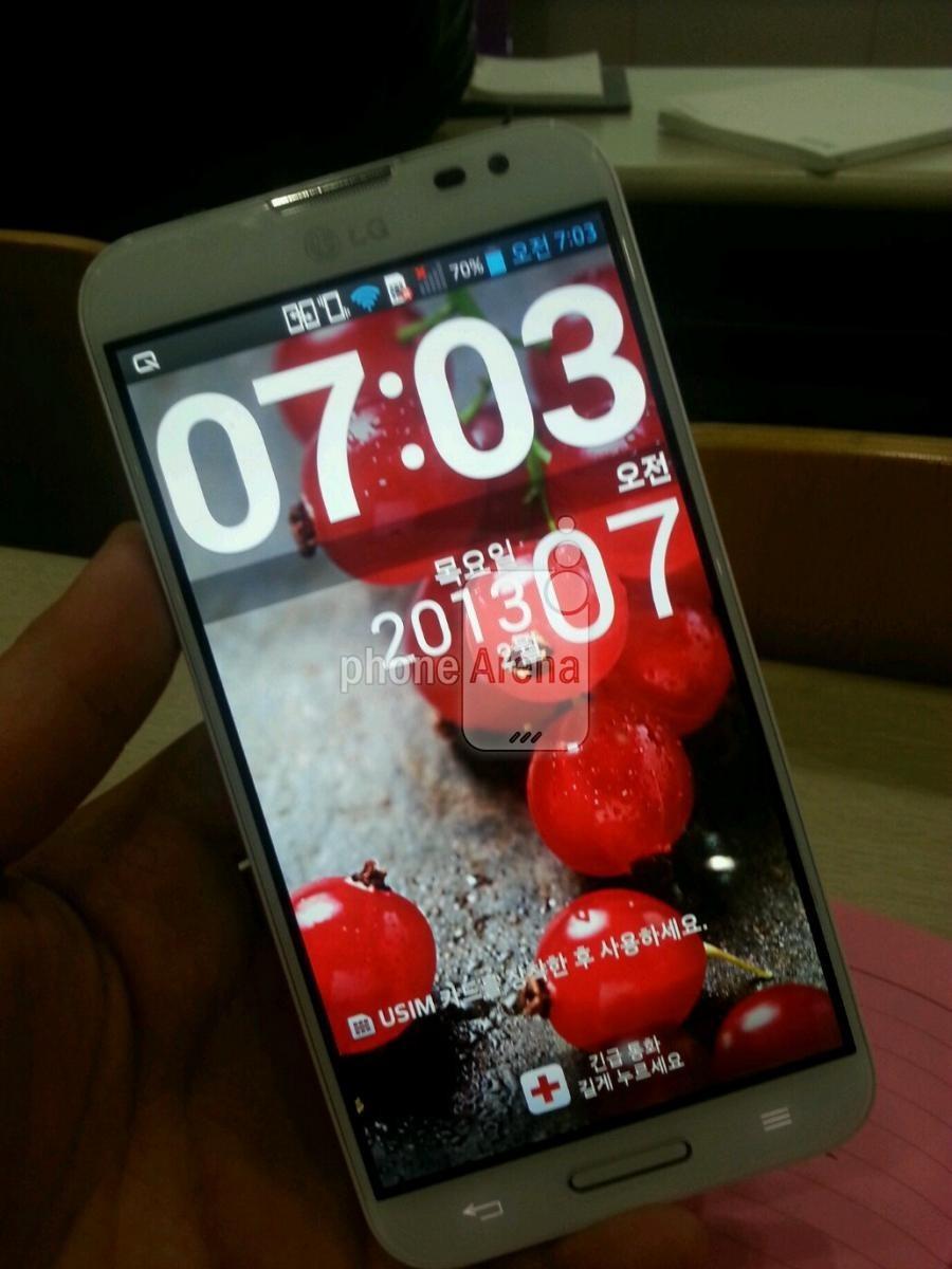 LG Optimus G Pro virá com tela de 5,5 polegadas Full HD (Foto: Reprodução/PhoneArena)