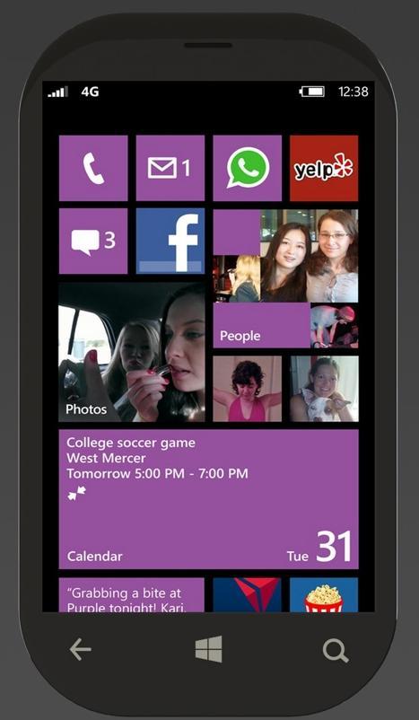 Projeção do novo Lumia 720 (Foto: Reprodução/MyNokiaBlog)