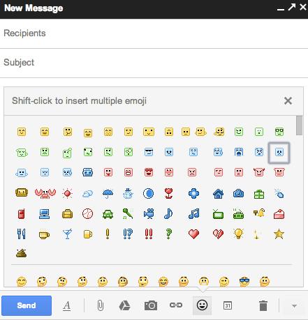 Mais de mil opções de emoticons estão disponíveis agora no Gmail (Foto: Reprodução/Gmail)