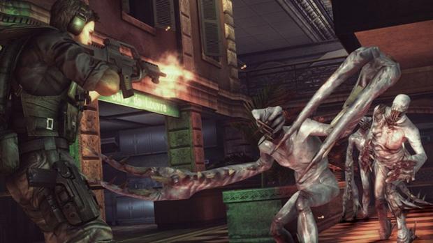 Chris enfrenta mutantes de Resident Evil: Revelations agora em alta resolução (Foto: Siliconera) (Foto: Chris enfrenta mutantes de Resident Evil: Revelations agora em alta resolução (Foto: Siliconera))