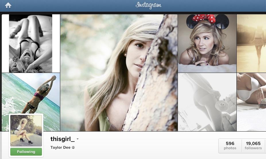 Fotos da Taylor Dee - @thisgirl_ (Foto: Reprodução/Instagram)