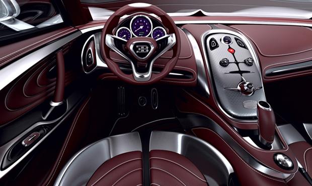 Interior revela linhas que se assemelham ao Veyron (Foto: Reprodução)