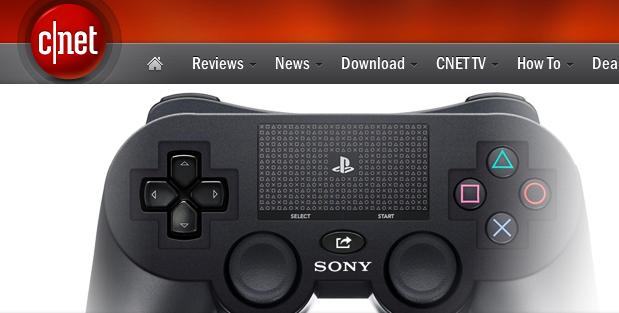 O Site Cnet também publicou uma foto do suposto joystick do PS4 (Foto: Reprodução Cnet)
