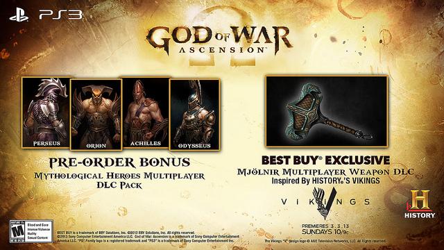 O martelo de Thor é a mais nova arma para o multiplayer de God of War: Ascension (Foto: Divulgação)