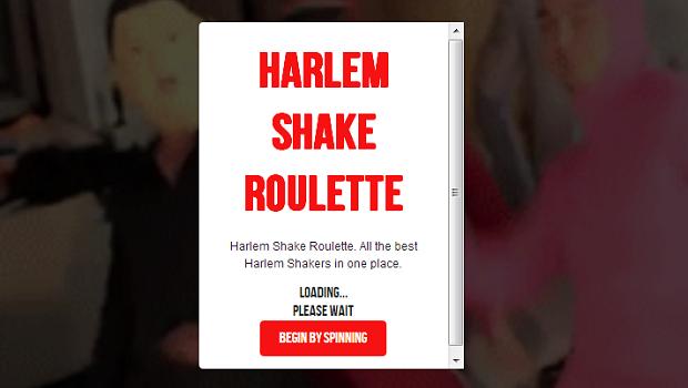 Site reproduz aleatoriamente vídeos do Harlem Shake (Foto: Reprodução/YouTube)