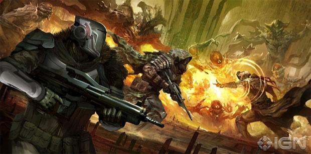 Destiny promete jogo online com mundo consistente (Foto: Reprodução/IGN)